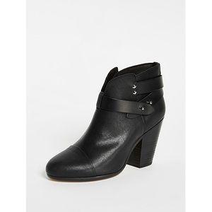 Rag & Bone Harrow style black booties
